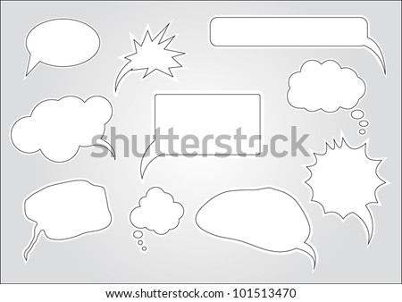 Collection of speech bubbles and dialog balloons - stock vector