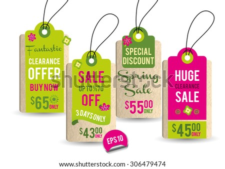 Collection of Spring Sales Hang Tags 1