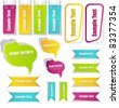collection of stickers/bookmarks/labels/tags vector - stock vector