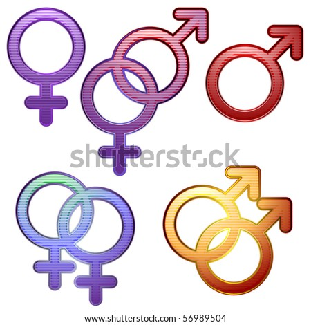 Collection of symbols for gender and sexuality