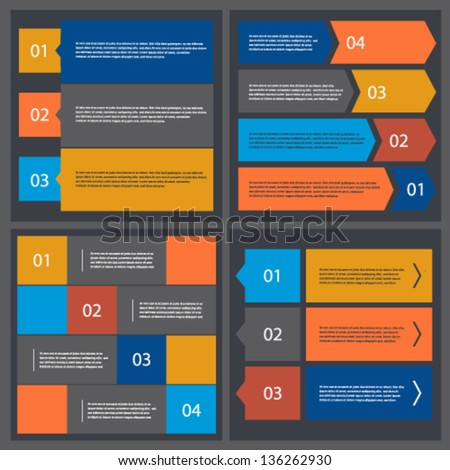 Collection of templates ui modern style banners - stock vector