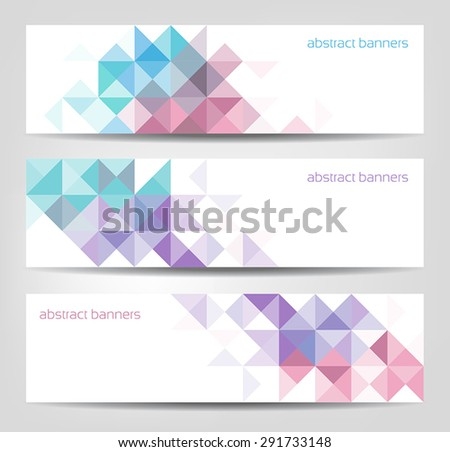 Collection of three abstract banners for web or print - stock vector