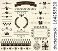 Collection of various Christmas elements for design and page decoration. Vector illustration. - stock
