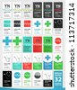 Collection of various medical business cards - stock vector