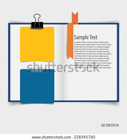 Collection of various papers, paper designs ready for your message. Vector illustration. - stock vector