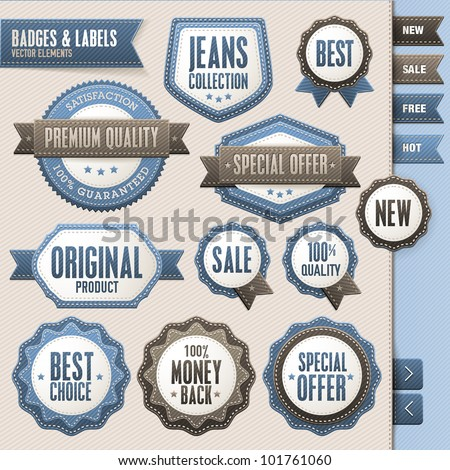 Collection of vector badges and labels - stock vector