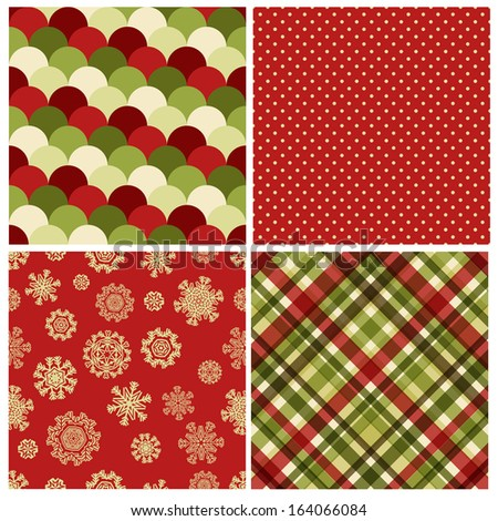 Collection of vector Christmas backgrounds and elements for design
