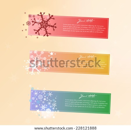 Collection of vector Christmas banners. - stock vector