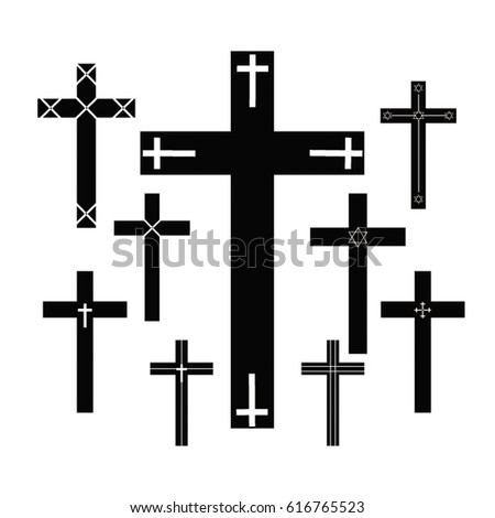 collection of vector crosses.