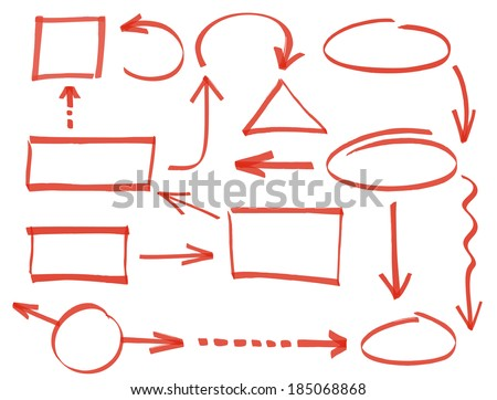 Collection of vector frames and arrows - stock vector