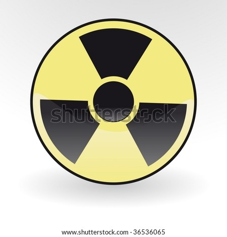 Collection of vector illustrations of radiation