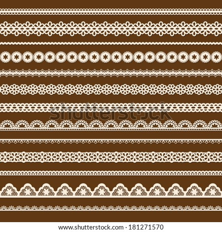 collection of vector lace - stock vector