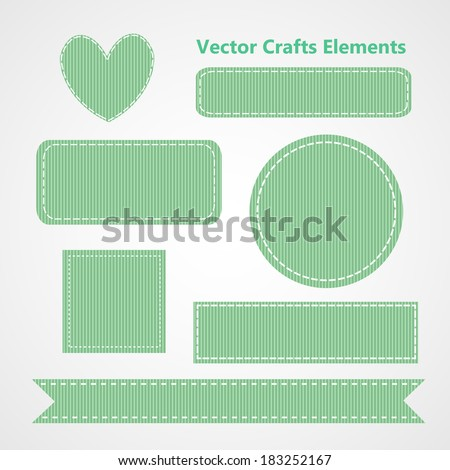 Collection of Vector Mint Green Grosgrain Ribbon Crafts Elements