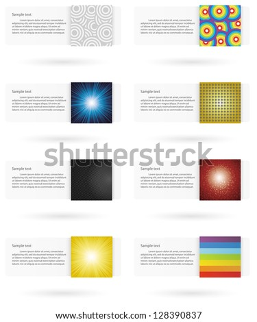 collection of vector paper lines/banner. clean template for web site.