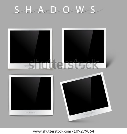 Collection of vector photos with realistic shadow effects