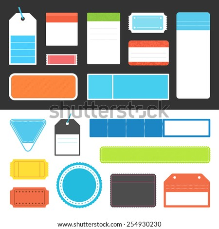 Collection of vector tags and labels. - stock vector