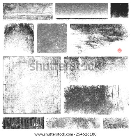 Collection of vector textures and stains. - stock vector