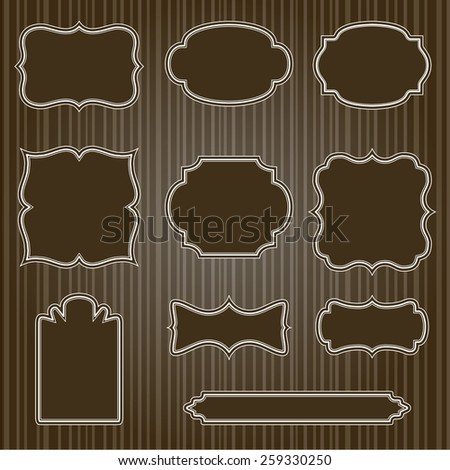 Collection of vector vintage labels - stock vector