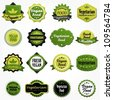 Collection of vegetarian food labels - stock vector