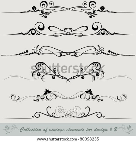 collection of vintage elements for design #2 - stock vector