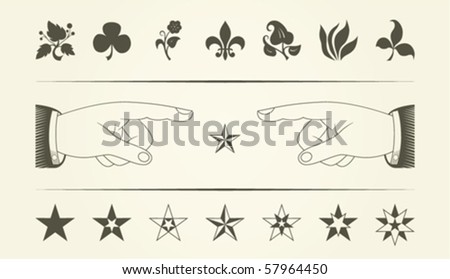 collection of vintage graphical elements - stock vector
