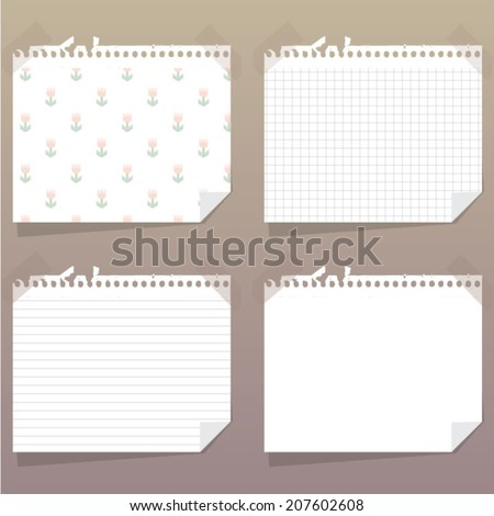 collection of vintage paper templates - stock vector
