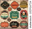 Collection of vintage retro grunge labels, badges and icons - stock