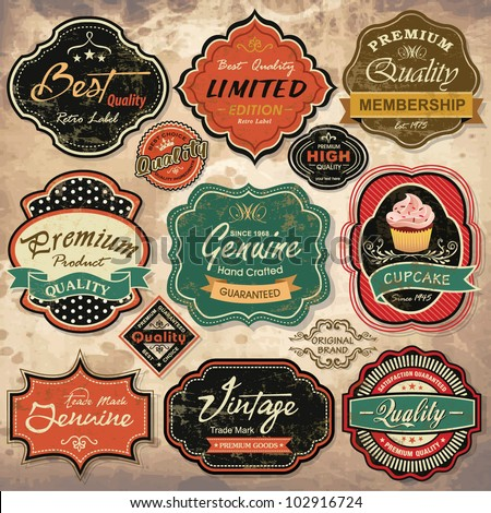 Vintage Label Stock Images, Royalty-Free Images & Vectors ...
