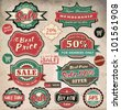 Collection of vintage retro grunge sale labels, badges and icons - stock photo