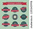 Collection of vintage retro sale labels , eps10 vector format - stock vector