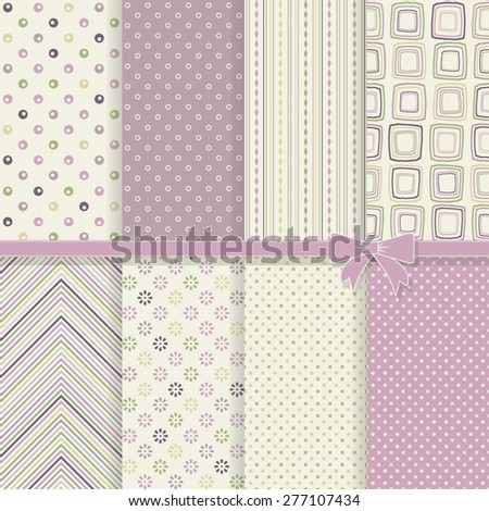 collection of vintage seamless abstract patterns - stock vector