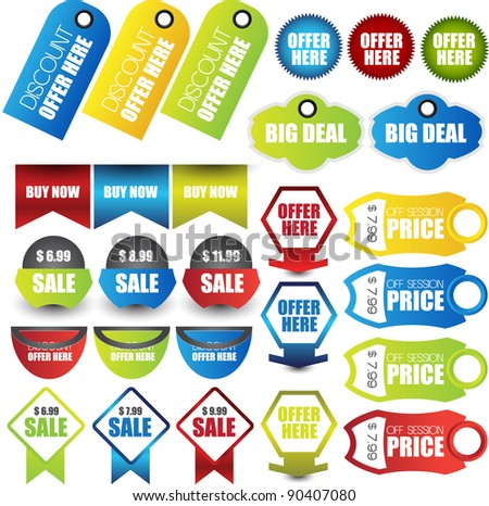 collection of web sale elements - stock vector