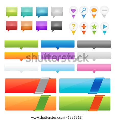 Collection Of Website And GPS Navigation Elements For Your Web Projects, Vector Illustration - stock vector