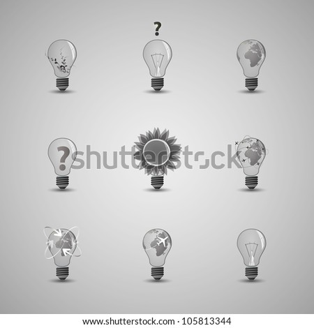 Collection Of Website Elements, Icons - stock vector