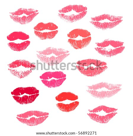 Collection print of lips