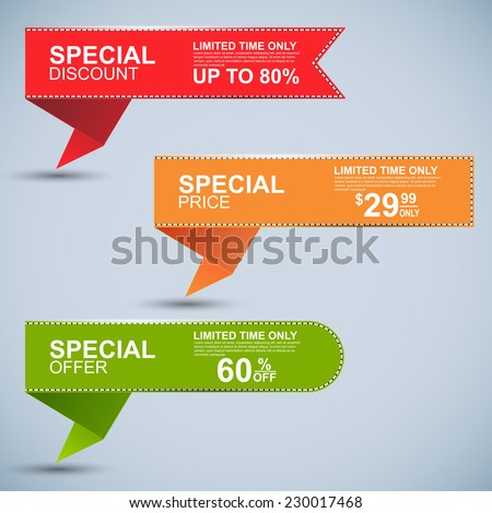 Collection sale banners - stock vector