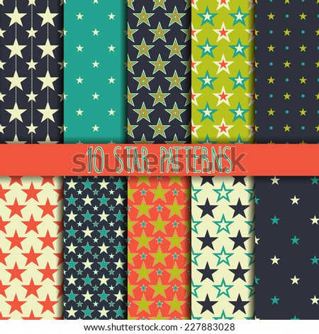 Collection seamless pattern. You can use a texture for printing on fabric, scrapbooking, or anything you choose - stock vector