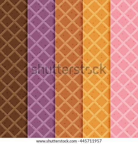 collection seamless texture of waffles. Easy to change colors.