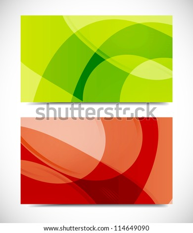 Collection vector of modern color business card templates - stock vector