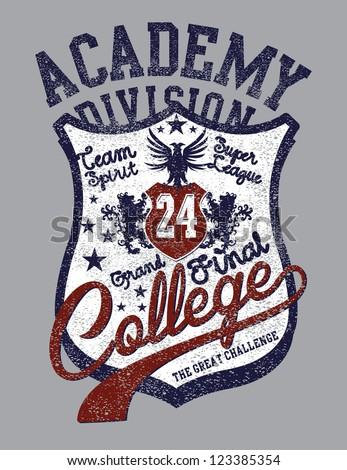 college badge vector art - stock vector