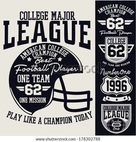 college graphics - stock vector