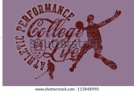college life - stock vector