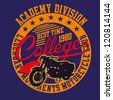 college motorcycle club - stock