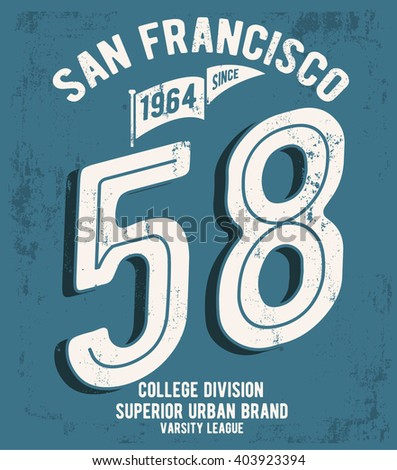 College San Francisco typography