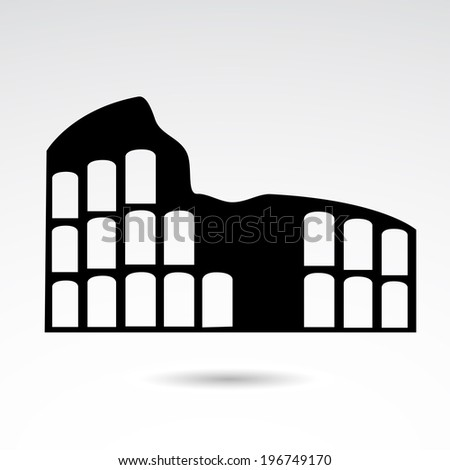Colloseum icon isolated on white background. VECTOR illustration. - stock vector