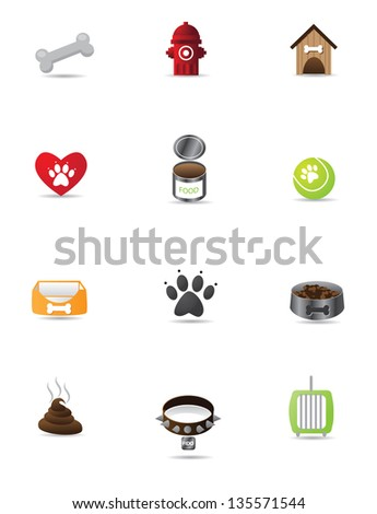 Colo Dog Icon Set Collection Group. EPS 8 vector, grouped for easy editing. No open shapes or paths. - stock vector