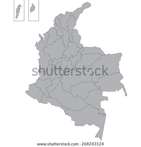 colombia - stock vector