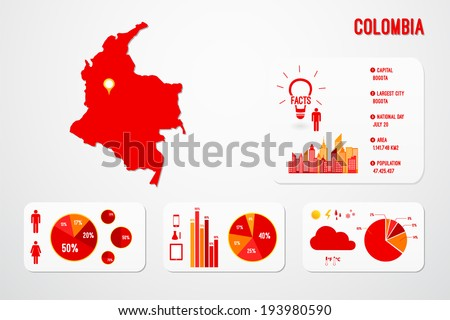China Country Infographics Template Vector Stock Vector 193980584 ...