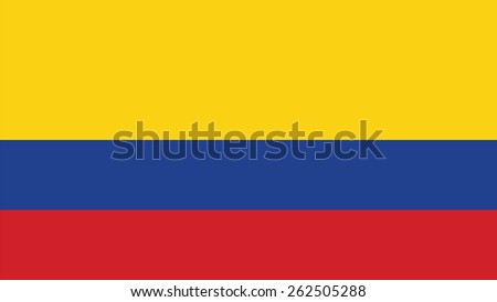 colombia  Flag for Independence Day and infographic Vector illustration. - stock vector