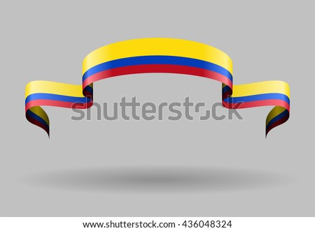 Colombian flag background. Vector illustration. - stock vector